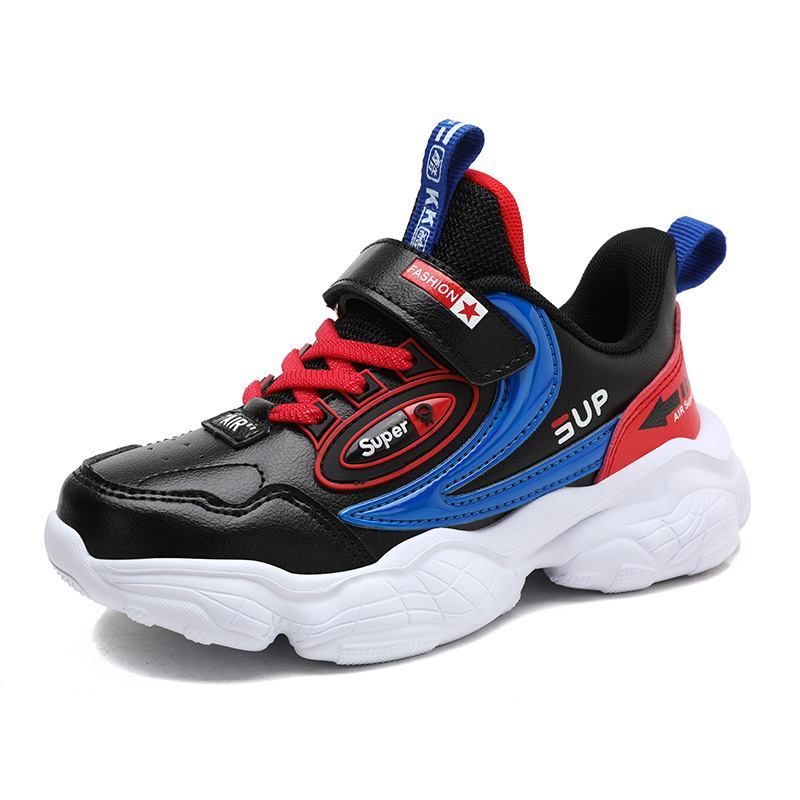 SKHEK New Spring Kids Shoes Mesh Color Matching Children's Tennis Breathable Sport Shoes Fashion Footwear Girls Boys Sneakers