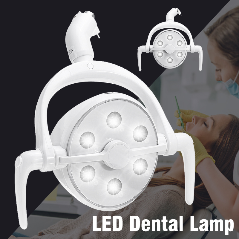 Effecient 6 LED Oral Operation Shawdowless Dental Lamp Infrared Inductive Switch Dentistry Chair Spotlight Dental Induction Lamp