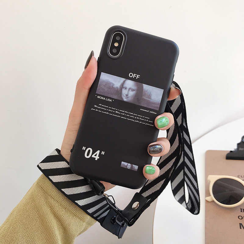 Hot off ow malerei stripes soft silicon abdeckung fall für iphone 6 7 7plus 8 8plus X XR XS MAX 11 pro weiß crossing telefon couqe