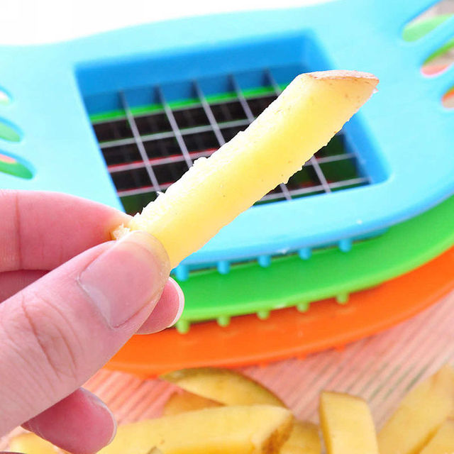 Familysky ABS Stainless Steel Potato Cutter Slicer Chopper Kitchen Shredders Cooking Tools Gadgets Kitchen Tools 6