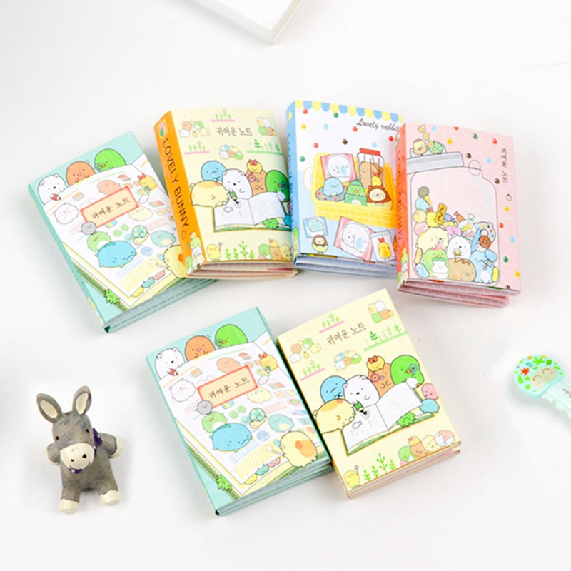 New Pattern Animal Orgy 6 Folding Memo Pad N Times Sticky Notes Escolar Papelaria School Supply Bookmark Label image