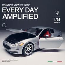 цена на Bburago 1:24 Maserati Quattroporte alloy car model collection gift toy die-cast model Christmas gift