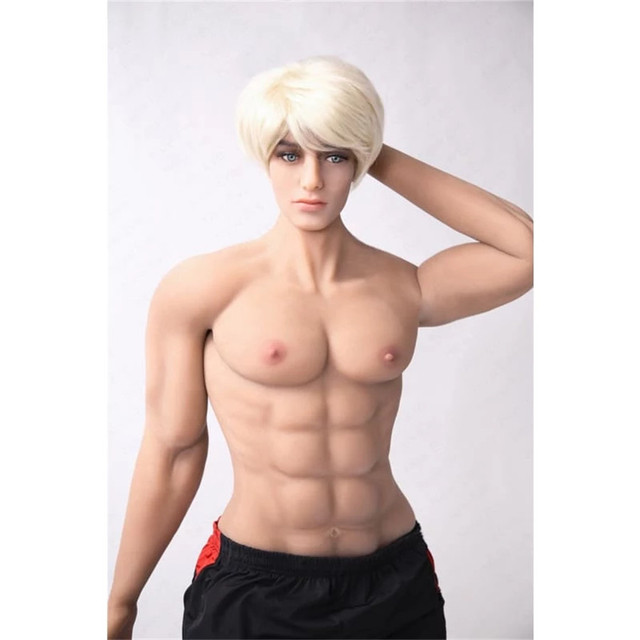 180cm (5.90ft) Male Sex Toys Dolls for Women Human Size Sex Dolls with Muscles Lifelike Big Penis Metal Skeleton Free Shipping
