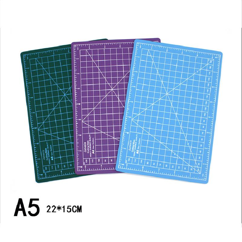A5 Model Cutting Pad Paper Cutting Pad A5 Double-sided Cutting Board Auto Healing Pvc Rubber Stamp Engraving Pad Scale Plate