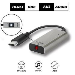 USB-C DAC Toslink Optical AUX Audio Adapter 192kHz 24bit Headset Amplifier USB Sound Card