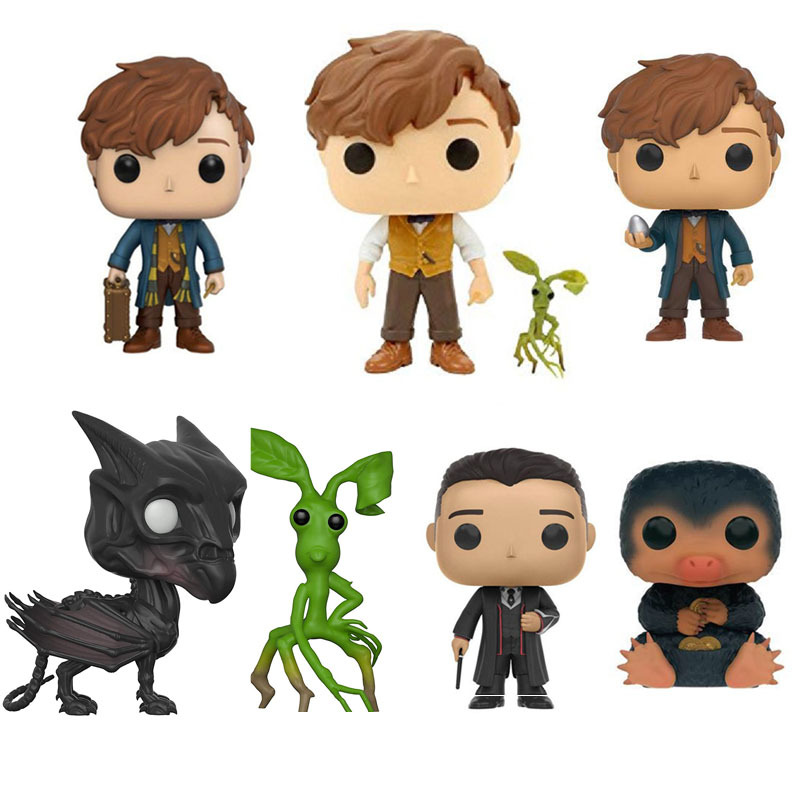 Fantastic Beasts And Where To Find Them 10cm NEWT SCAMANDER NIFFLER Thestral Pickett Vinyl Figure Model Toys