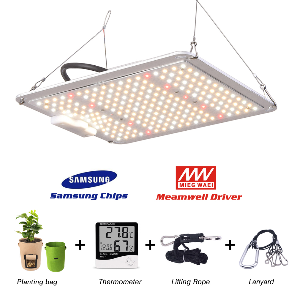 1000W Samsung LM301H/LM301B Quantum Tech Led Grow Light Full Spectrum 3000K 5000K Mix 660nm IR, With Hygrometer And Planting Bag