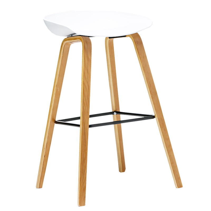 Chair European Bar Counter Chair Modern Concise Reception Bar Stool High Foot Chair Bar Chair Northern Europe High Footstool
