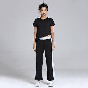 Image 4 - Damski luźny joga odzież garnitur odchudzanie ubrania do ćwiczeń sport Slim dwuczęściowy komplet garniturów sweter poliester, spandex Negroke