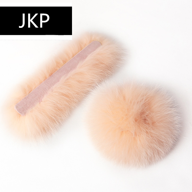JKP 2019 Real Fox Fur Cuffs Sleeves For Women Winter Warm New Fashion Natural Fox Fur Cuffs Arm Sleeves Women Luxury Brand