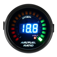 20LED монитор Индикатор AFR Авто Цифровой Аналоговый синий Светильник Универсальный датчик температуры масла воздуха топливного соотношения гоночный 12 в метр