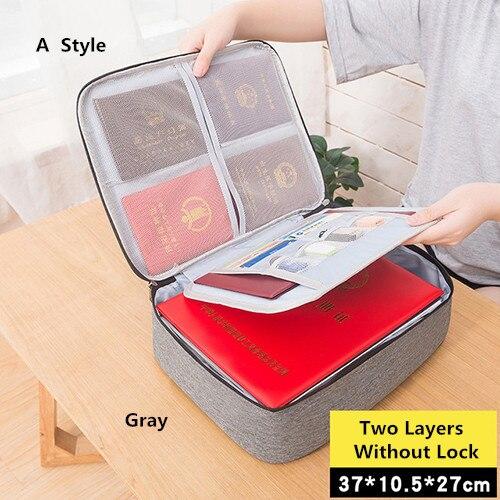 Big Capacity Document Organizer Insert Handbag Travel Bag Pouch ID Credit Card Wallet Cash Holder Organizer Case Box Accessories