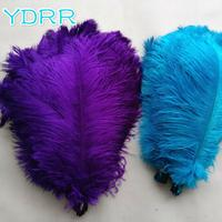 hot selling best quality wedding tree decoration thick rod ostrich feather plumes craft feather 55 60cm white ostrich feathers