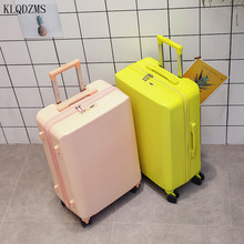 KLQDZMS 20''24Inch Innovative Rolling Luggage Travel Bag  PC Simple Style Suitcase On Wheels For Young People