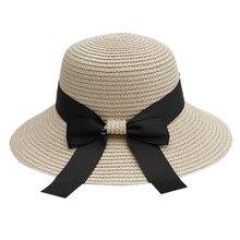 Солнцезащитная шляпа женская летняя соломенная шляпа большой широкий пляжный навес шляпа складная Защита от солнца УФ-излучения защита женская летняя шляпа# D8