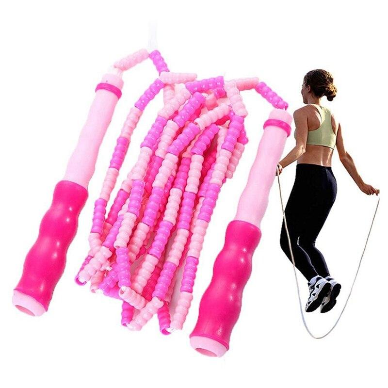 2 pçs ajustável frisado seção pular corda