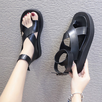 COOTELILI Women Summer Sandals 3cm Heel Fashion Platform Shoes 2020 Non-slip Black And White Basic