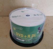 Atacado dvd + r 8.5 gb dupla camada d9 8x 240min 50 pçs/lote frete grátis