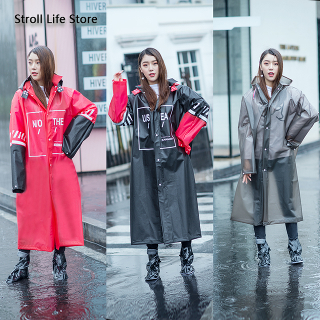 Long Raincoat Women Adult Rain Poncho Hiking Rain Coat Jacket Thicken Waterproof Suit Transparent Plastic Suit Impermeable Gift 2