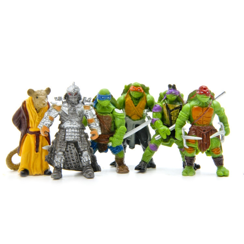 6pcs/set Lovely Mini Turtles Actions Figure Cartoon Tartaruga Turtles Toys For Children Anime Figure Doll Birthday Gifts