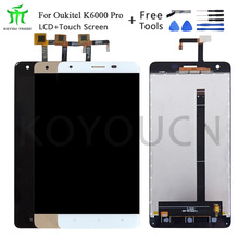 For 5.5in Oukitel K6000 Pro LCD Display+Touch Screen Screen Digitizer Assembly Repair Parts+Tools +Adhesive LCD Glass Panel недорого