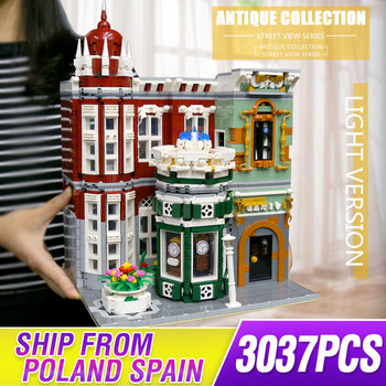 MOC Street View Creator Series Antique collection shop Green Grocer Model Building Blocks Bricks Compatible lepining 10185 Toys 1