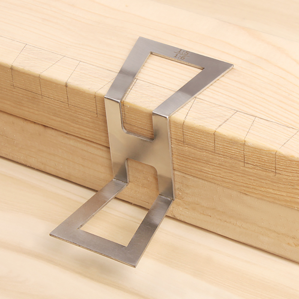 Wood Joints Gauge Dovetail Guide Stainless Steel Dovetail Gauge Copper Dovetail Marker Hand Cut Marking Size 1:5-1:6 1:7-1:8