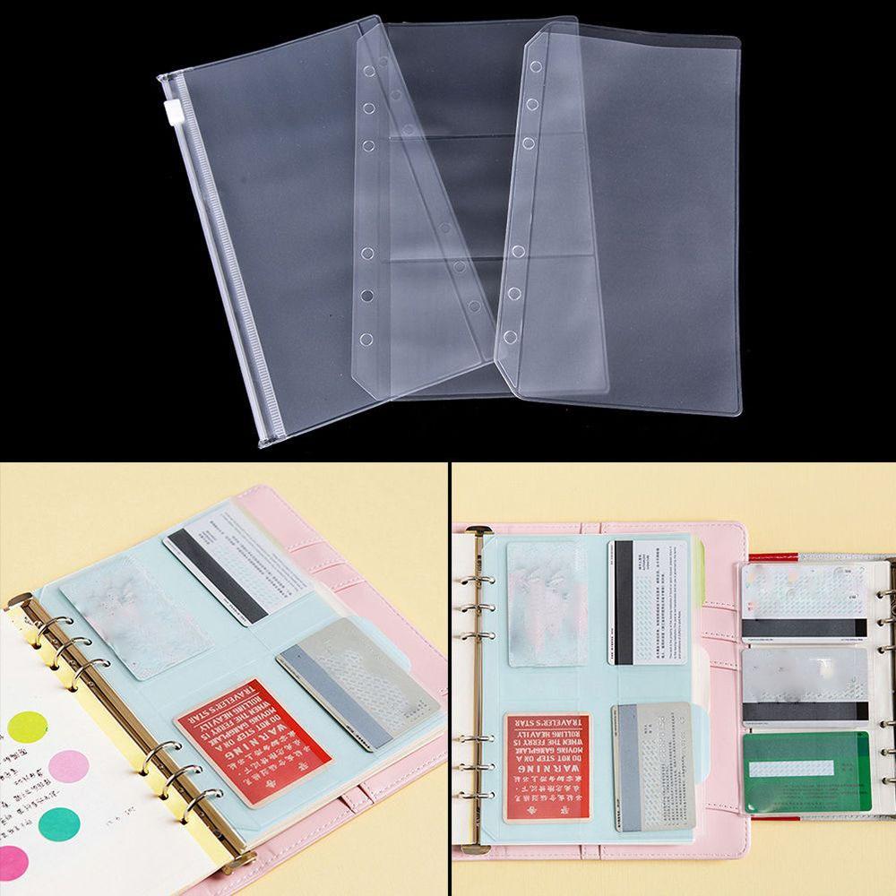 A5/A6 Transparent Zip Lock Envelope Binder Pocket Refill Organization Stationery  School Office Supply File Folder Accessories