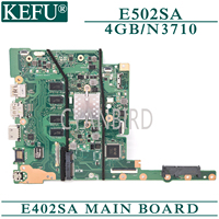 KEFU E402SA original mainboard for ASUS E502SA with 4GB RAM N3710/N3150 (4 core CPU) Laptop motherboard