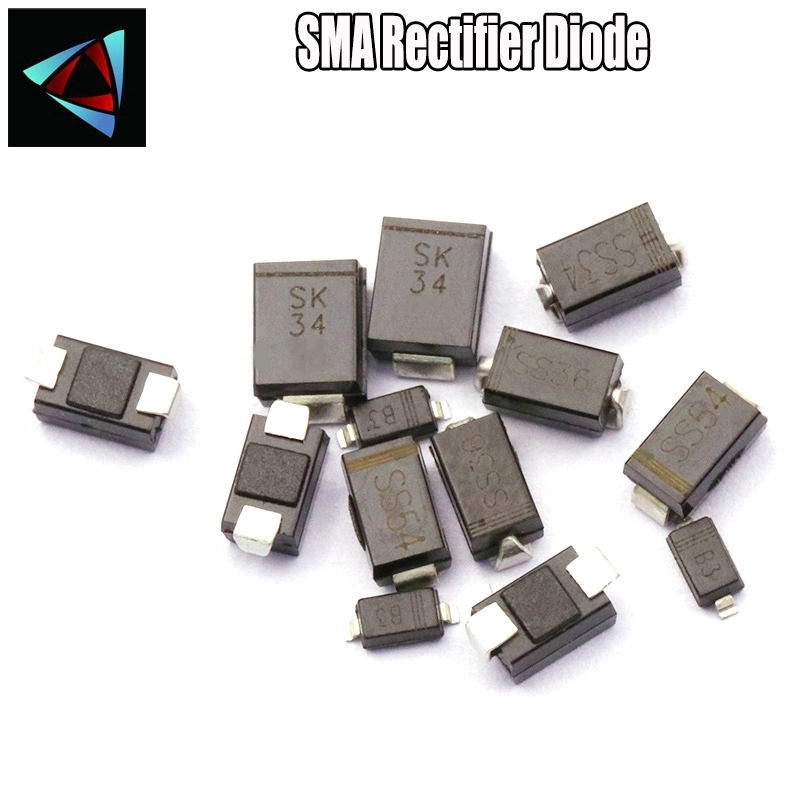 50PCS SS34 1N5822 FR103 F1M IN5817 SS12 UF4007 US1M <font><b>SR360</b></font> SS36 SS12 1N5817 SMA Schottky <font><b>Diode</b></font> image