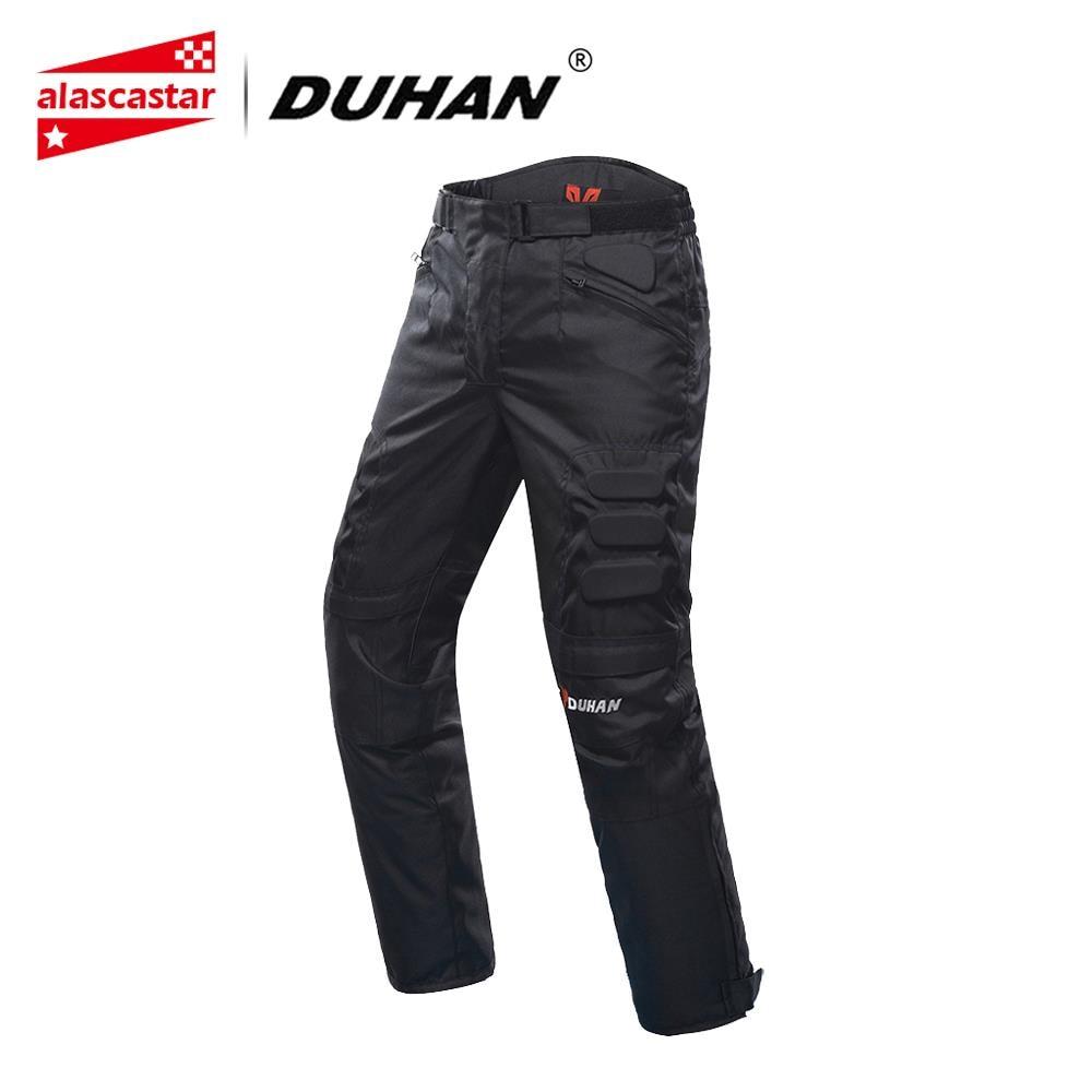 Duhan calças da motocicleta dos homens à prova de vento equipamento protetor motocross calças motocicleta equitação pantalon calças moto com joelho