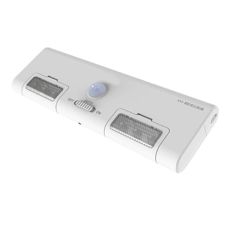 Led 옷장 빛 배터리 작동 스틱 어디서나 휴대용 센서 빛 6 led 90 ° 회전 차고/입구/복도-에서LED 다운 라이트부터 등 & 조명 의