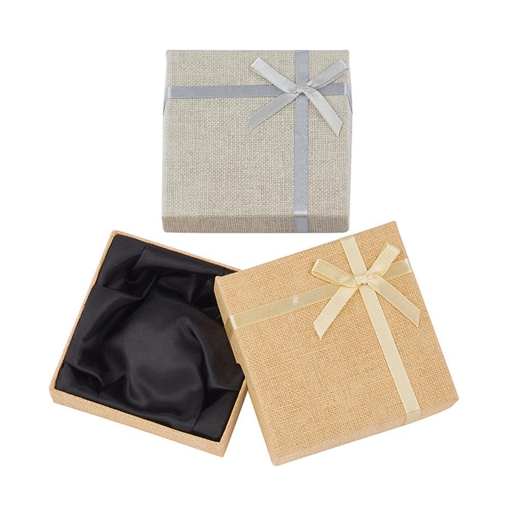 24 шт Высокое качество шкатулка для ювелирных изделий браслет из картона кейс для хранения Цепочки и ожерелья ювелирных изделий подарочная упаковочная коробка смешанные Цвет Упаковка и стойки для украшений      АлиЭкспресс