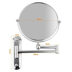 Image 2 - عالية الجودة 8 بوصة الفولاذ المقاوم للصدأ 5x التكبير مرآة الحائط مرآة ماكياج الحمام تمديد للطي مزدوجة الوجهين