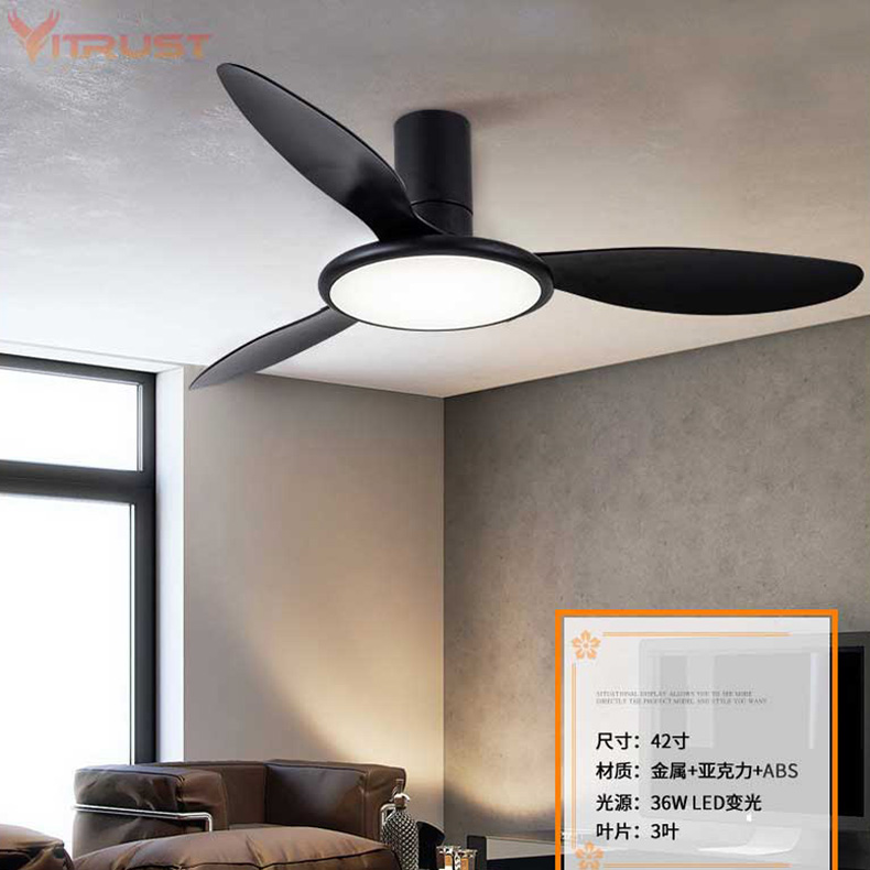 Delicious 42 Inch Reversible Ceiling Fan With Led Light Kit Creative Pendant Fan Lamp With Remote Control