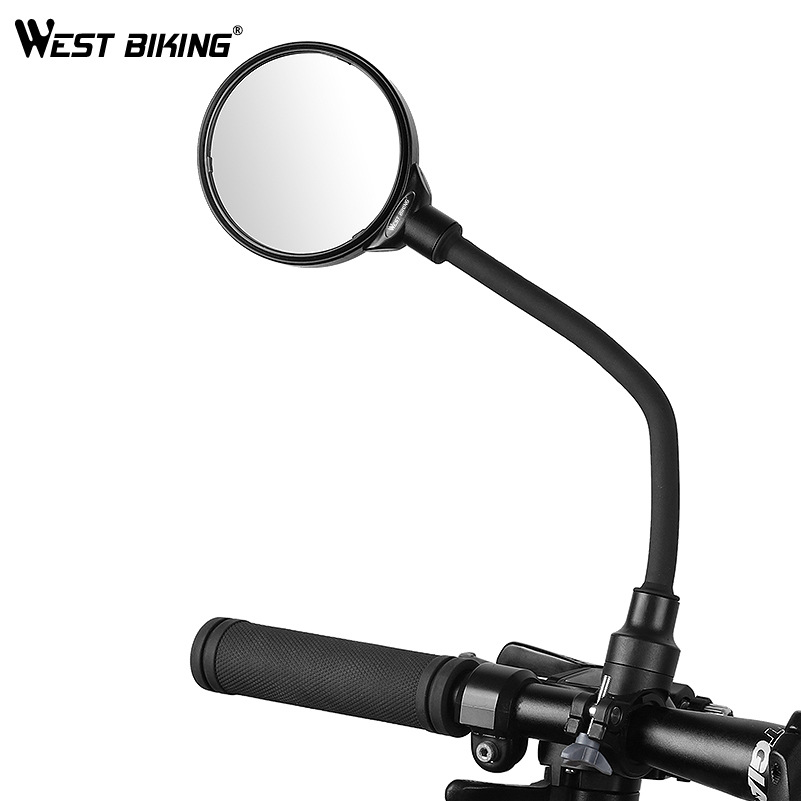 Bike Mirror Bike Rearview Mirror Motorcycle Electric Vehicle Hose Adjusting Large Screen Bicycle Rearview Mirror Parts For Bike