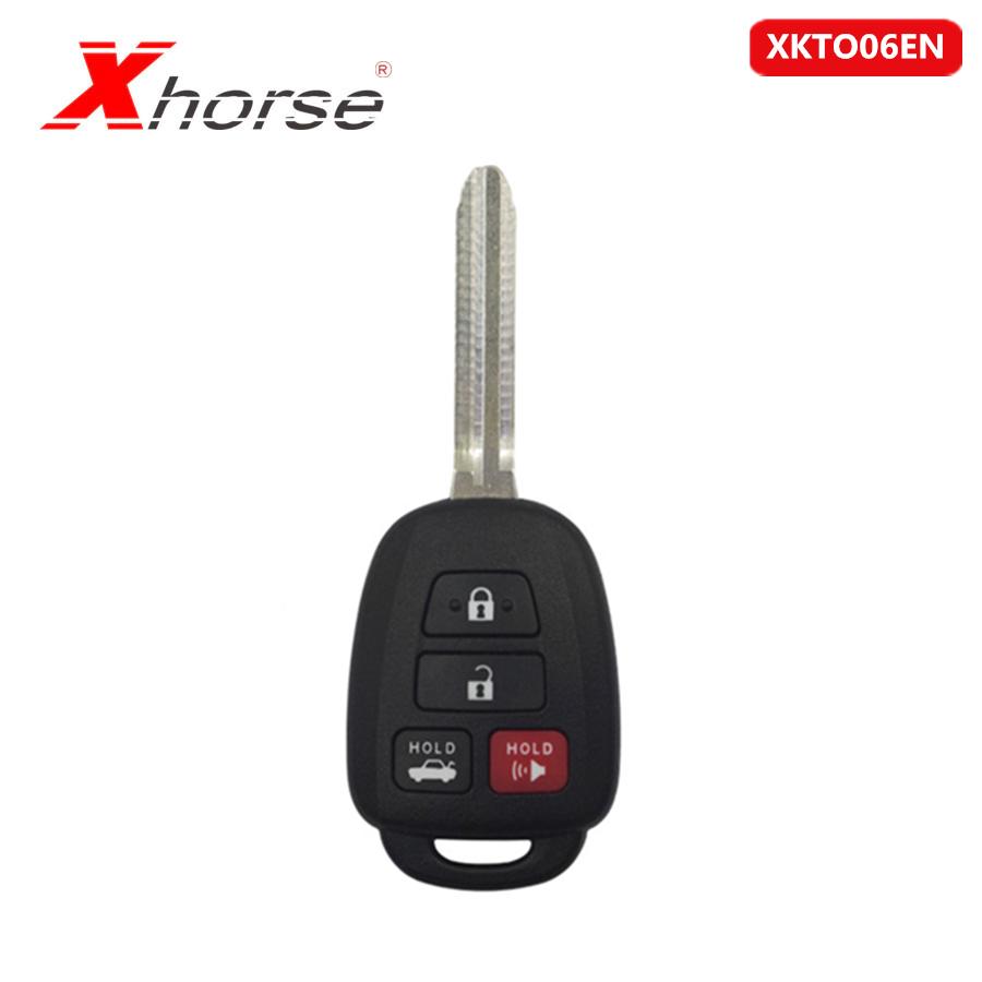 Xhorse VVDI2 For Toyota Style Flat 4 Buttons XKTO06EN Wired Universal Remote Key For VVDI VVDI2 Key Tool 5pcs/lot
