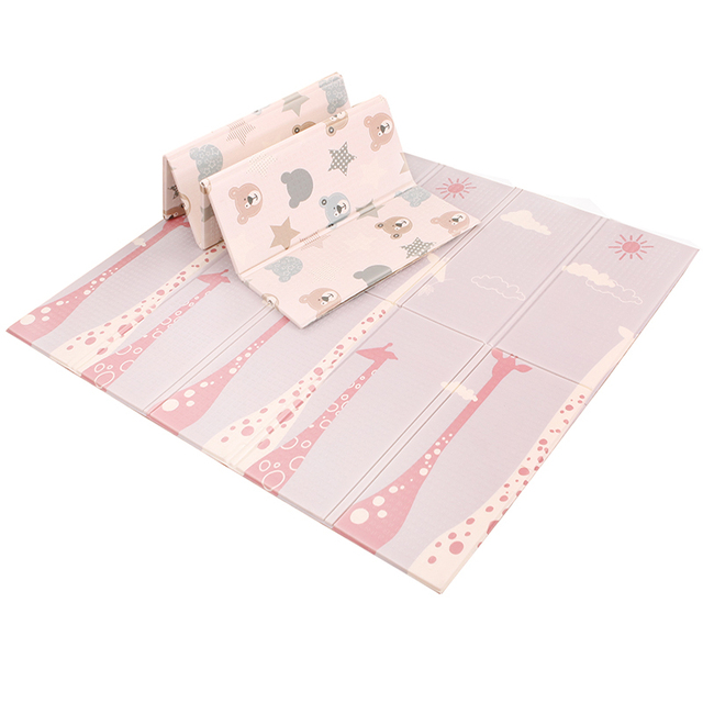 200*180*1cm dwustronna mata do zabawy dla niemowląt dwustronna mata dla niemowlęcia składana wodoodporna przenośna miękka podłoga maluchy niemowlęta dywan