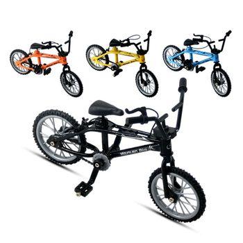 Mini rower na palec zabawki stop miniaturowy rower MTB Model DIY kreatywny symulacja kolarstwo górskie dzieci prezenty edukacyjne tanie i dobre opinie OOTDTY Metal CN (pochodzenie) Miniature Bike app 11x8cm 4 33x3 15in Finger rowery 5-7 lat Black Blue Orange Yellow 1 Pc