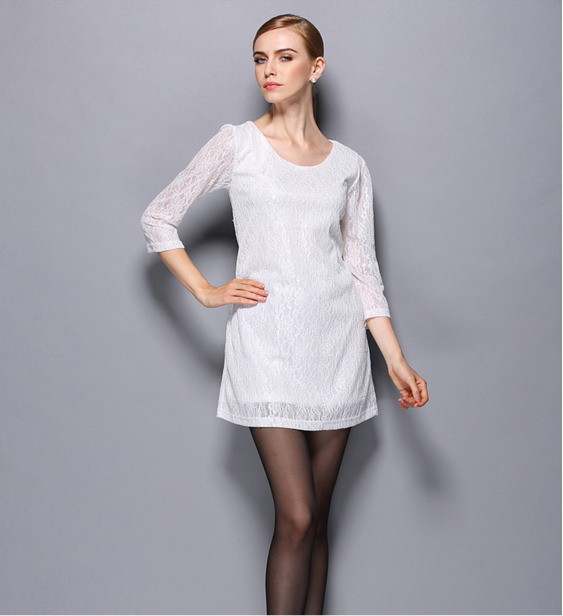 Goocheer New Women Vintage Summer Slim Fit Cheongsam Evening Party Wedding Lace Floral Dress in Dresses from Women 39 s Clothing