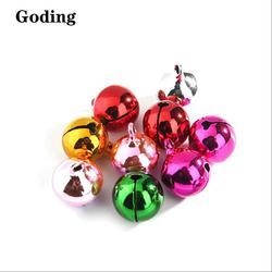 100Pcs Vacuum Electroplating Metal Bells/Color Small Bells With A Word Opening/Copper Bells/XMAS Decor/DIY Crafts Accessories