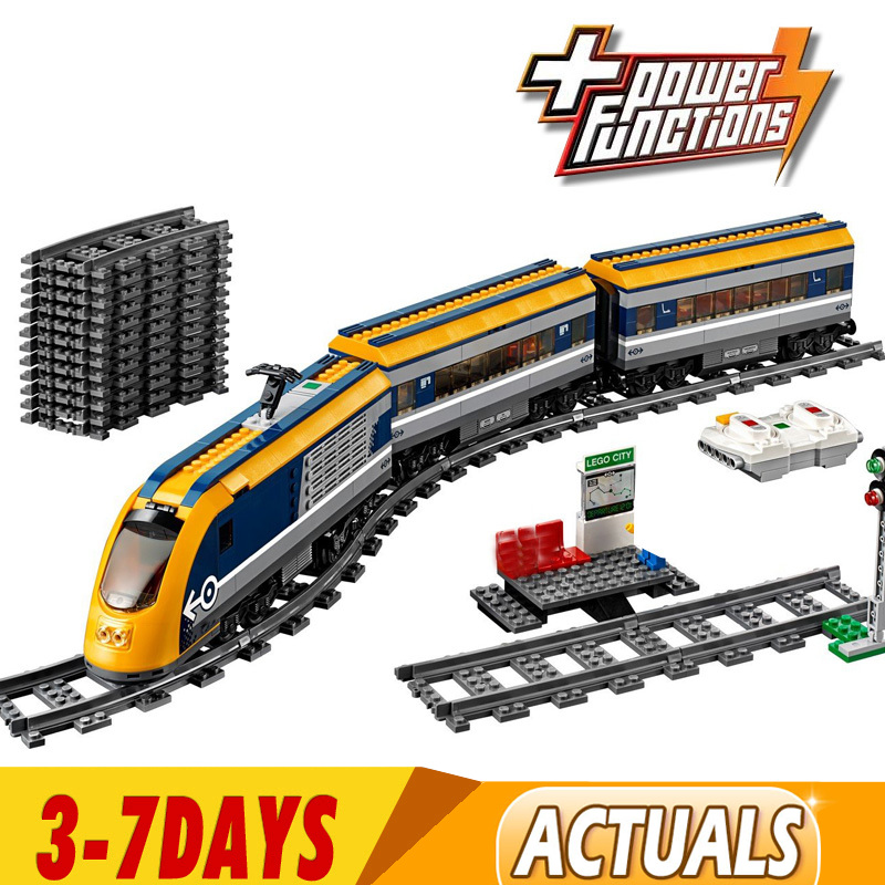 DHL 02117 02118 Cargo Train Building Blocks Set Compatible with 60197 60198 City RC Passenger Trains King Bricks 1