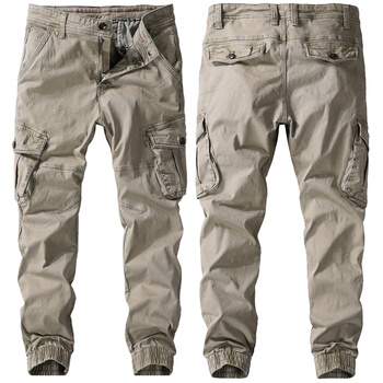 Men Spring Autumn Pants Pure Cotton Work Trousers Mens Cargo Pants Fashion Clothing Military Trousers Multi-Pockets Army Pants 1