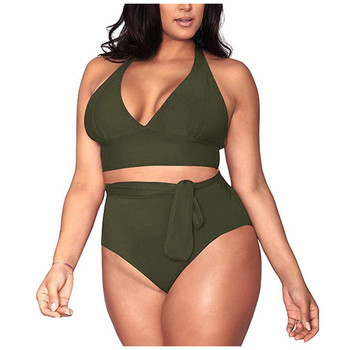 2020 Newest Swimsuit Bikini Plus Size Separate Large Womens Swimwear Swimming Suit For Women Push Up Set