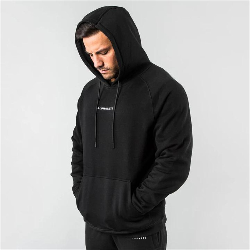 ALPHALETE Brand Autumn Fitness Men Gyms Hoodies Sweatshirt Bodybuilding Hoody  Casual Sweatshirt Men's Slim Fit Hooded Jackets