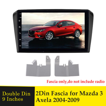 2Din Car Radio Fascia for Mazda 3 Axela 2004-2009 9 Inch Stereo CD DVD Player Panel Dashboard Refitting Installation Frame Bezel image
