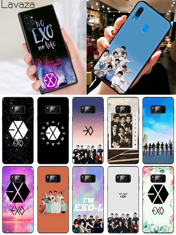Lavaza EXO band k-pop <font><b>kpop</b></font> Soft Case for <font><b>Samsung</b></font> A2 A3 A5 A6 A7 A8 A9 J4 <font><b>J6</b></font> J7 Duo J8 Core <font><b>Plus</b></font> Prome 2018 image