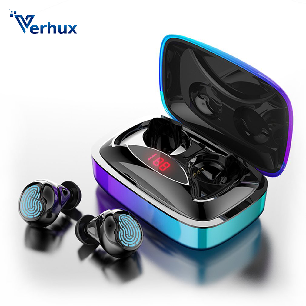 Bluetooth 5.0 Earphones X29 TWS Portable Touch Control Wireless Earphone 6D Stereo Bass Sports Earbuds With 2000mAh Charging box
