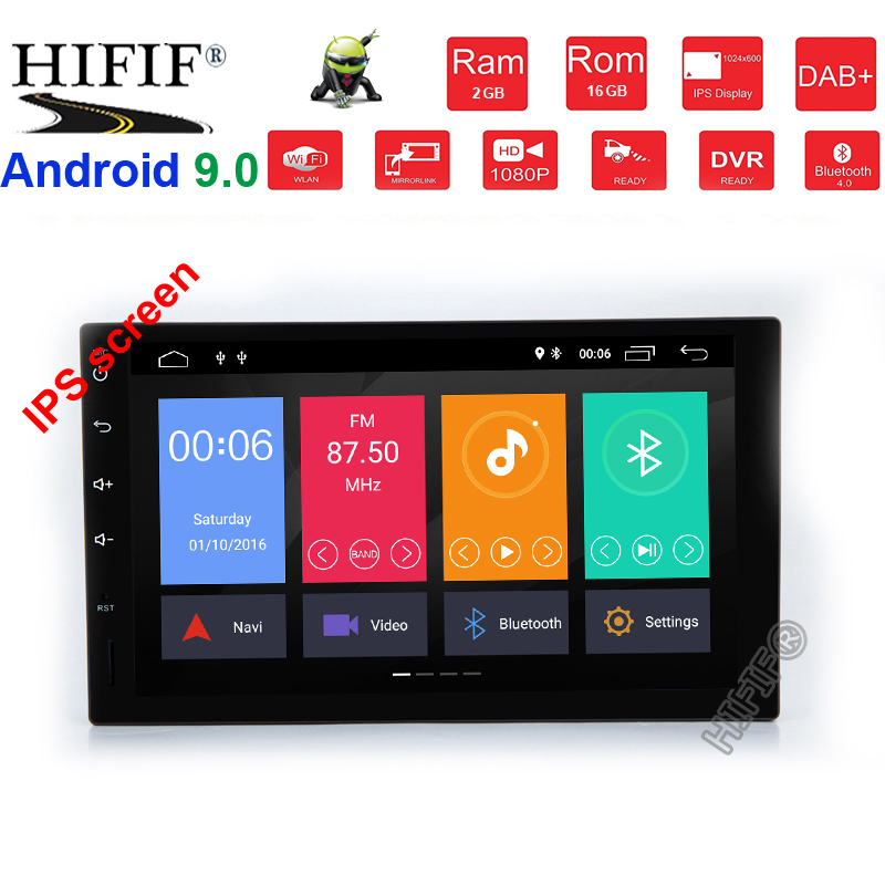 7 inch <font><b>2</b></font> <font><b>Din</b></font> Android 9.0 Car Dvd Player Audio Stereo For Universal Gps Navigation Steering-Wheel 2Din Radio Recorder Wifi Map image