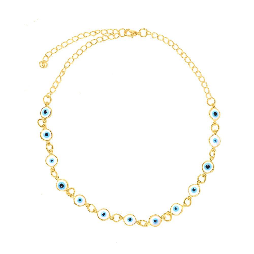 Colliers de perles exagérés en acier inoxydable en acier inoxydable Multieyes collier de vacances créatif en opale
